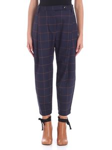 Nine in the morning - Blue and orange checkered trousers