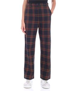Nine in the morning - Blue tartan wide trousers