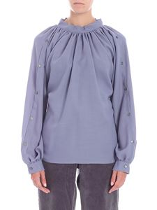 Covert - Diagonal fabric lilac blouse