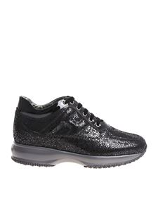 Hogan - Interactive black textured sneakers