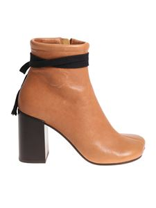 MM6 by Maison Martin Margiela - Tan color leather ankle boots