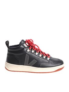 Veja - Roraima Bastille Leather black sneakers