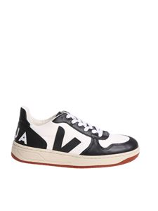 Veja - White and black Bastille sneakers