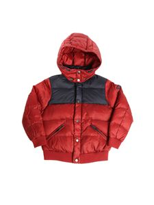 Emporio Armani - Burgundy and blue quilted dow jacket