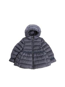 Il Gufo - Blue quilted down jacket with logo