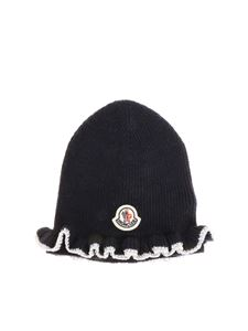 Moncler Jr - Blue beanie with logo