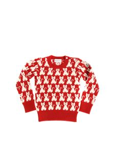 Moncler Jr - Red pullover with cats pattern