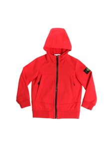 Stone Island Junior - Red jacket with logo