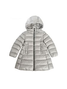 Moncler Jr - Suyen pearl grey down jacket