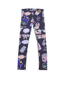 Fendi Jr - Stretch check printed leggings