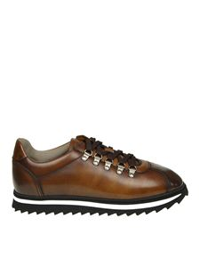 Doucal's - Sneaker in pelle color brandy
