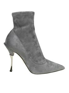 Dolce & Gabbana - Cardinale Grey pointy ankle boots