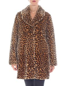 "Stand Official - ""Levona"" leopard print coat"
