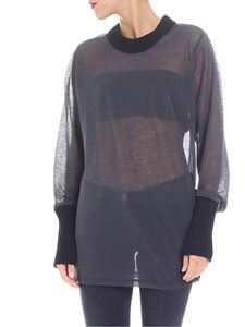 Joseph - Anthracite top with knit edges