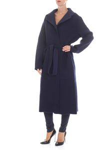 Joseph - Blue stretch wool blend coat