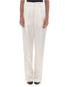 "Joseph - ""Riska"" wide pants in white pearl"