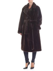 Stand Official - Faustine coat in faux fur brown