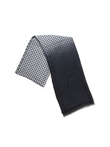 Altea - Black scarf with degradé print