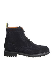 Doucal's - Blue brogue ankle boots