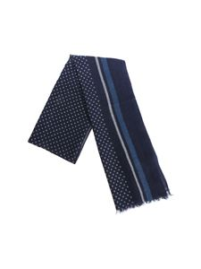 Altea - Blue plaid and polka dot scarf