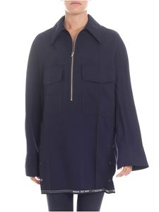 Y's Yohji Yamamoto - Dark blue blouse with white embroidery