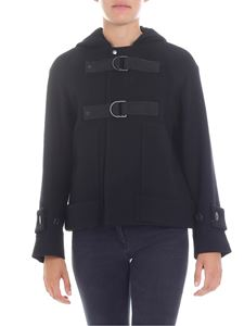 Zucca - Short black hooded coat