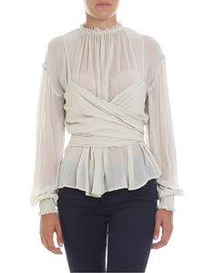 Zucca - Ice blouse with puff sleeves