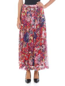 Aspesi - Multicolor pleated silk skirt