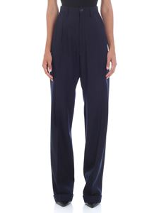Maison Margiela - High waisted blue trousers