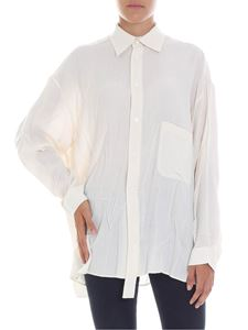 Y's Yohji Yamamoto - Ivory shirt with a wrinkled effect