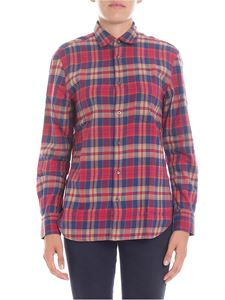 Aspesi - Red and blue tartan shirt