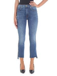 "MOTHER - ""The Insider Crop Step Fray"" blue jeans"