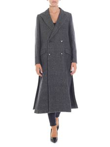 Zucca - Gray double-breasted coat