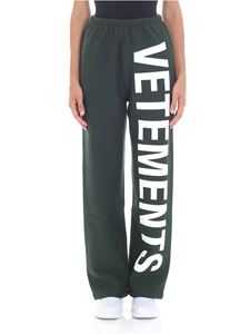 Vetements - Green trousers with logo