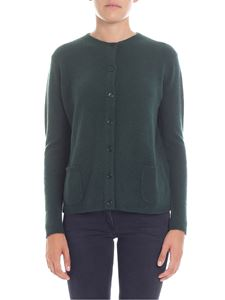 Aspesi - Green cashmere cardigan with pockets
