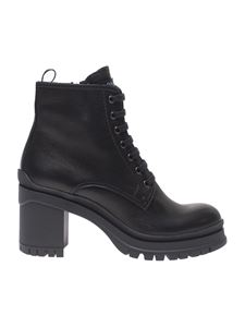 Prada - Black lace-up ankle boots