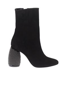 MARC ELLIS - Suede boots with studded heels