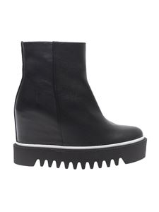 Palomitas by Paloma Barceló - Black leather wedge ankle boots