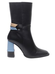 Paloma Barceló - Black, light blue and beige boots