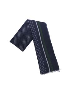 Altea - Blue stripes and polka dot scarf