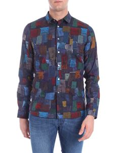 PS by Paul Smith - Patch fabric print shirt
