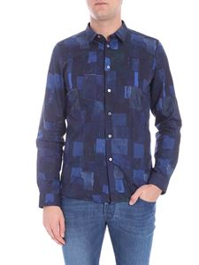 PS by Paul Smith - Patch print shirt in shades of blue