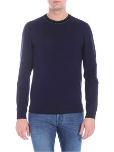 PS by Paul Smith - Blue pullover with logo embroidery