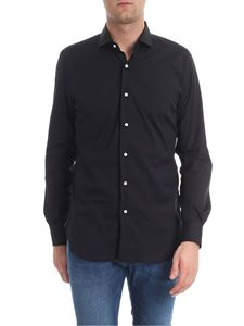 Barba - Black shirt with French collar