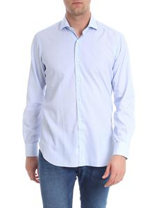 Barba - Embroidered white and blue shirt