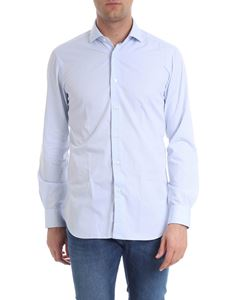 Barba - White and blue shirt French collar