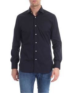 Barba - Blue French collar shirt