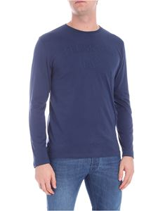 Trussardi Jeans - Blue t-shirt with logo embroidery
