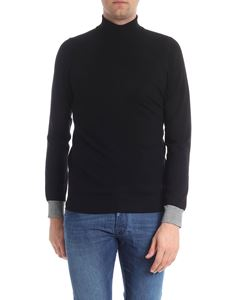 Trussardi Jeans - Black turtleneck with logo