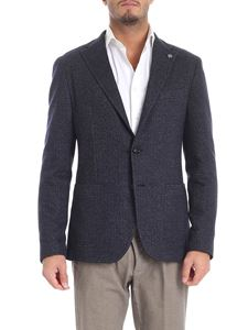 Tagliatore - Blue and grey melange two button jacket